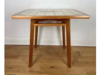 Stunning Mid Century Solid Teak Tiled Top Dining Table FREE LOCAL DELIVERY