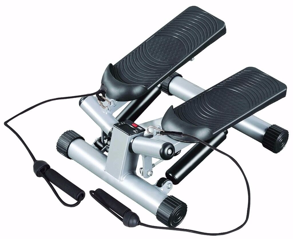 Mini stepper legs arms thigh toner Twist step with Free Resistance Bandsin Greenford, LondonGumtree - Stepper Twist Exercise Stepper Stair Climber & Workout Cords Mini Step Fitness The IQI Fitness Stepper is the perfect low impact Cardio home work out exercise fitness machine. The Twist Step action of the stepper gives a full lower body workout,...