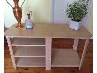 LIKE NEW IKEA TABLE, tv stand living room, bedroom furniture MODERN, wood effect