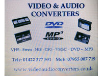 Convert Transfer Hi8 VHS C Mini Dv 8mm Video Tape 8 to DVD MP4 CD USB