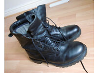 Leather boots for men - water proof and warm, steel cap - size 10