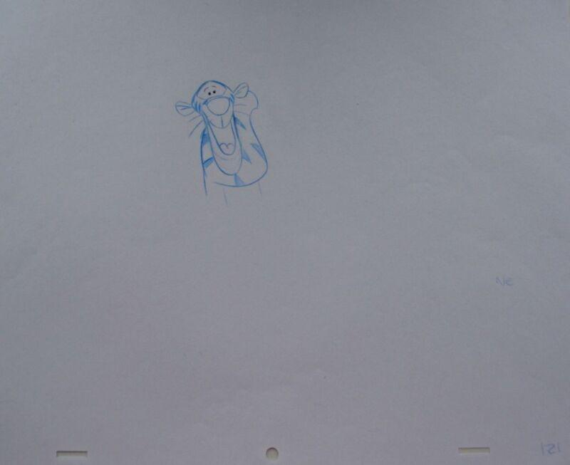 Walt+DISNEY+Animation+Art+Cel+Production+Drawing+Tigger+Winnie+Pooh+%239