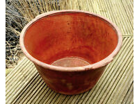 Large Early 1900's Earthenware Terracotta Planter