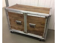 Industrial Style, Two Door Chest, New & Boxed.
