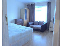 Big double room for single person in Putney for single, available now, garden door, tv, sofa