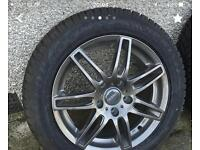 4 Mercedes alloys with winter tyres
