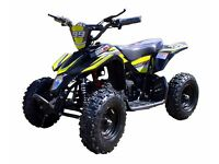 Mini Midi Moto Electric Quad Bike 800w 36v 3 Speed Reverse Black Minimoto ATV