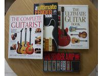 Ultimate guitar + amp book bundle, Fender Gibson Martin Strat Tele Les Paul etc