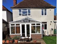 VGC used Conservatory for sale size 4m x 3m to include all fitted blinds and fan.