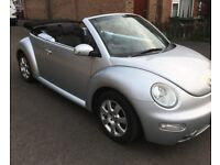 VW Beetle Cabriolet 2.0 soft top in Silver 2005 in good condition