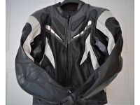 LEATHER MOTORCYCLE JACKET - BUFFALO