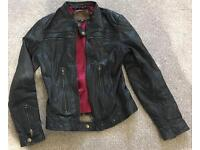 Pepe Jeans black leather jacket