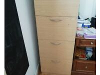 4 drawers filing cabinet with key