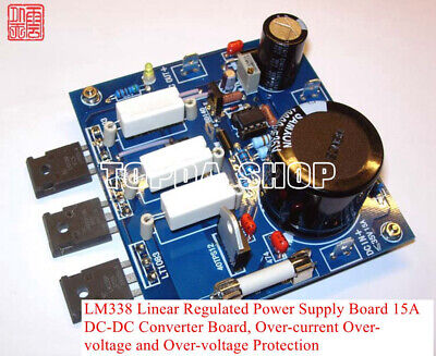 Lm338 Linear Regulated Power Supply Board 15a Dc-dc Converter Board