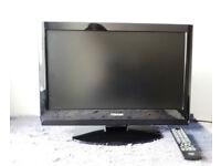 "Toshiba 22"" TV with remote control"