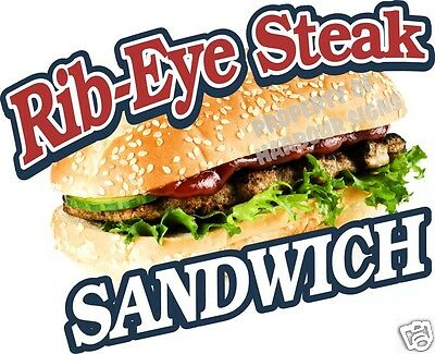 Ribeye Rib-eye Steak Sub Sandwich Concession Food Truck Mobile Van Decal 14