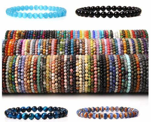 Bracelet Handmade Natural Gemstone Beads Round Stretch Healing Reiki 6 8 10 mm