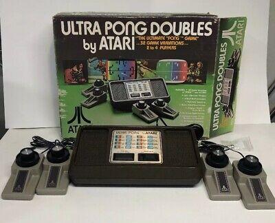 Atari 1977 Ultra Pong Doubles Model C-402 (D) Rare In Box