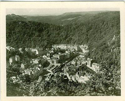 Foto Karlsbad , Blick von der Josefshöhe , 40er Jahre