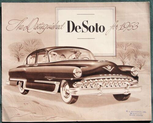 The Distinguished DeSoto for 1953 orig Chrysler Advertising Brochure