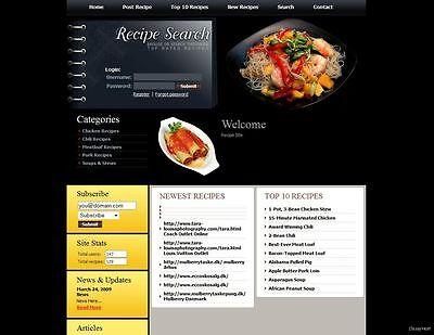 Established Cooking Recipes Food Website For Sale Adsense Affiliate Earnings