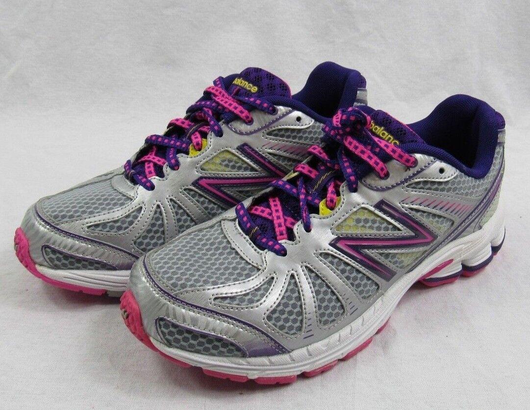 NEW BALANCE Girl's Sneakers for Kid's Size 6.5 - #KJ880SPY(Silver/Purple) NIB