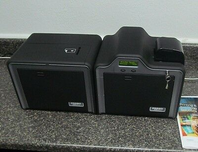 Fargo HDP5000 HDPii Dual Side Financial Card Printer Magnetic +EMV Smart Encoder Dual Side Card Printer