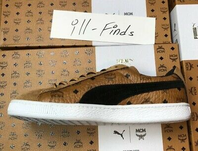 PUMA X MCM Suede Classic Brown Sneakers 50th Anniversary Mens Size 10 New