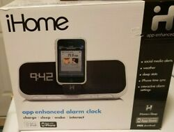 iHome Alarm Clock for iPod/iPhone IA5 App Enhanced Speaker System New