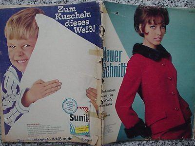 Neuer Schnitt 1965/09 w/Burda Pelzkragen Mäntel Kostüme Strick- Häkelmode - 60er Mode Kostüm