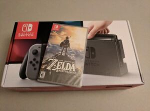 Nintendo Switch + 6 Games, 32gb SD Card and  Mario Kart Case