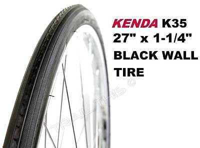 """Kenda K35 Blackwall 27"""" x 1-1/4"""" Road Bicycle Tire 27-inch Wire Bead Classic"""