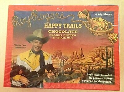 VINTAGE SEALED ROY ROGERS HAPPY TRAILS PEANUT BUTTER & TRAIL MIX CHOCOLATE BOX