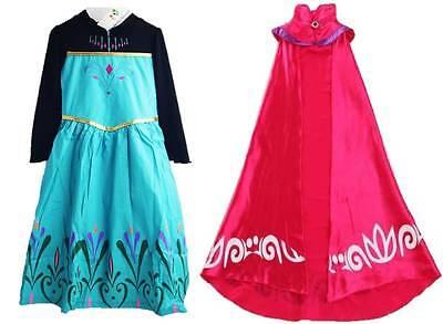 Frozen Coronation (NEW FROZEN ELSA CORONATION DRESS COTTON LONG CAPE COSTUMES GOWN KIDS)