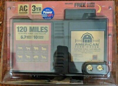 American Farm-works 120 Miles Low-impedance Electric Fence Controller - New Cr