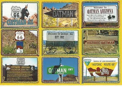 Oatman Arizona Postcard Old West Ghost Mining Town Historic Route 66 9 Scenes (Old West Scenes)