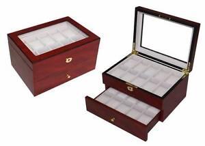 Luxury wooden watch box matt cherry for 20 watches Auburn Auburn Area Preview