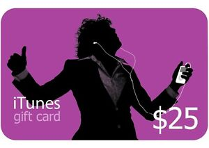 $25 iTunes Gift Card/Voucher/Certificate US Store Worldwide Fast Shipping