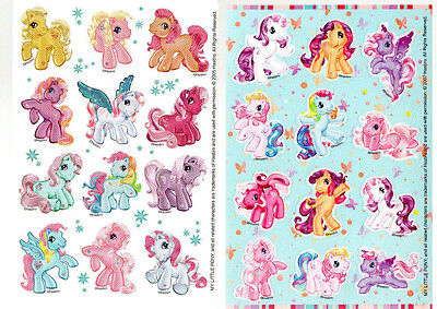 TWO Sheets STICKERS MY LITTLE PONY Color Kids Girls Pink Cute 12 Ponies NEW