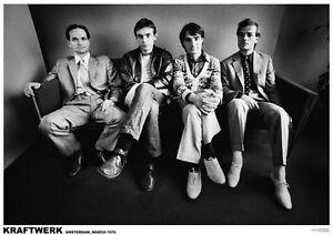 Poster KRAFTWERK - Group Sitting Amsterdam 1976 NEU 15041