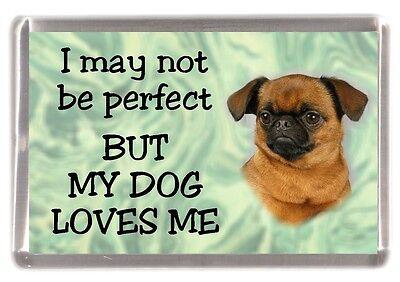 "Griffon Dog Fridge Magnet No.1.  ""I may not be perfect ........"" by Starprint"