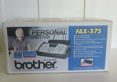 Brother Fax-575 Personal Plain Paper Fax Machine Phone Copier New In Box