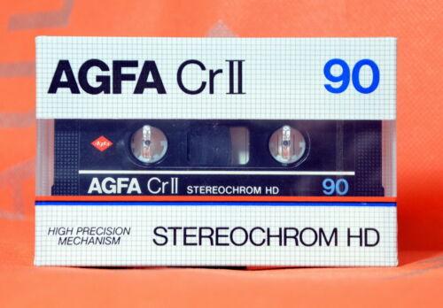 AGFA Stereochrom HD 90 TYPE II High Bias Cassette Tape 1982 Germany Neu OVP