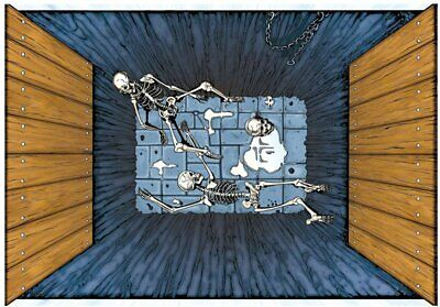 Halloween Spooky Scenes Floor Mat 3 ft x 4 ft, Skeletons - Halloween Floor