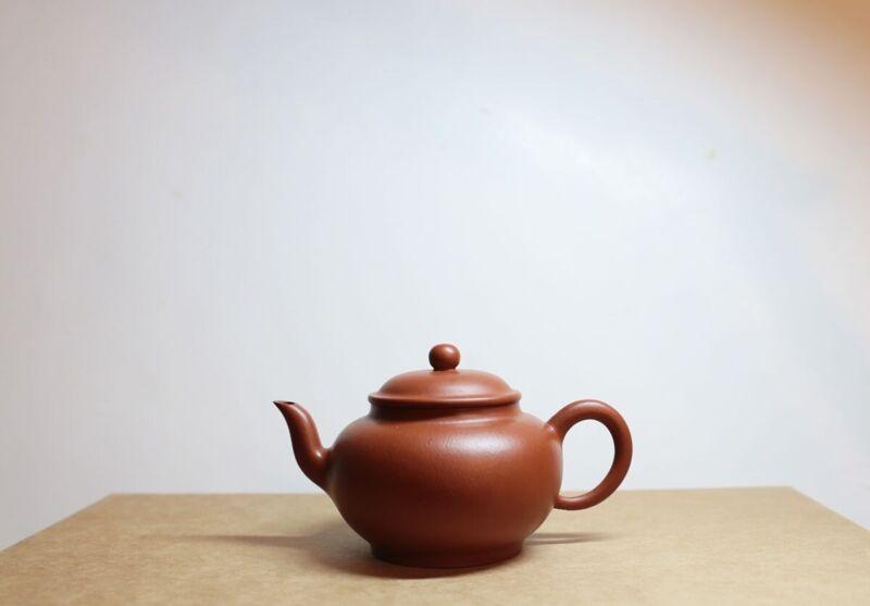 Used 180cc 赵庄朱泥 fully handmade/全手工 Yixing zisha teapot certificate 贡局壶