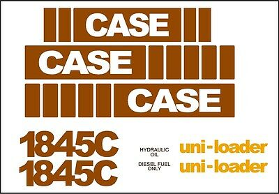 Case Skidsteer Decal Replacement Set 1845c Mid5 With Uni-loader Decals
