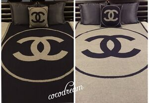 Black Chanel Throw Pillow : New Chanel 2014 2015 Most Wanted CC Logo Top Throw Blanket Dress Pillow in Bag eBay