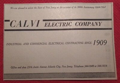 1964 Calvi Electric Company - Atlantic City New Jersey  Advertisement