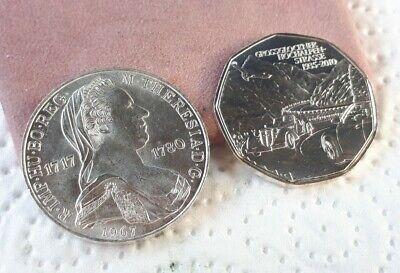 Münzen Österreich 5 EURO 2010 Grossglockner SILBER 25 SCHILLING M.THERESIA 1967