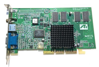 Video Out Vga Karte (ATI Rage 128 Pro 32 MB 32MB Grafikkarte PN: 109-63200-01 AGP VGA Video TV-OUT)